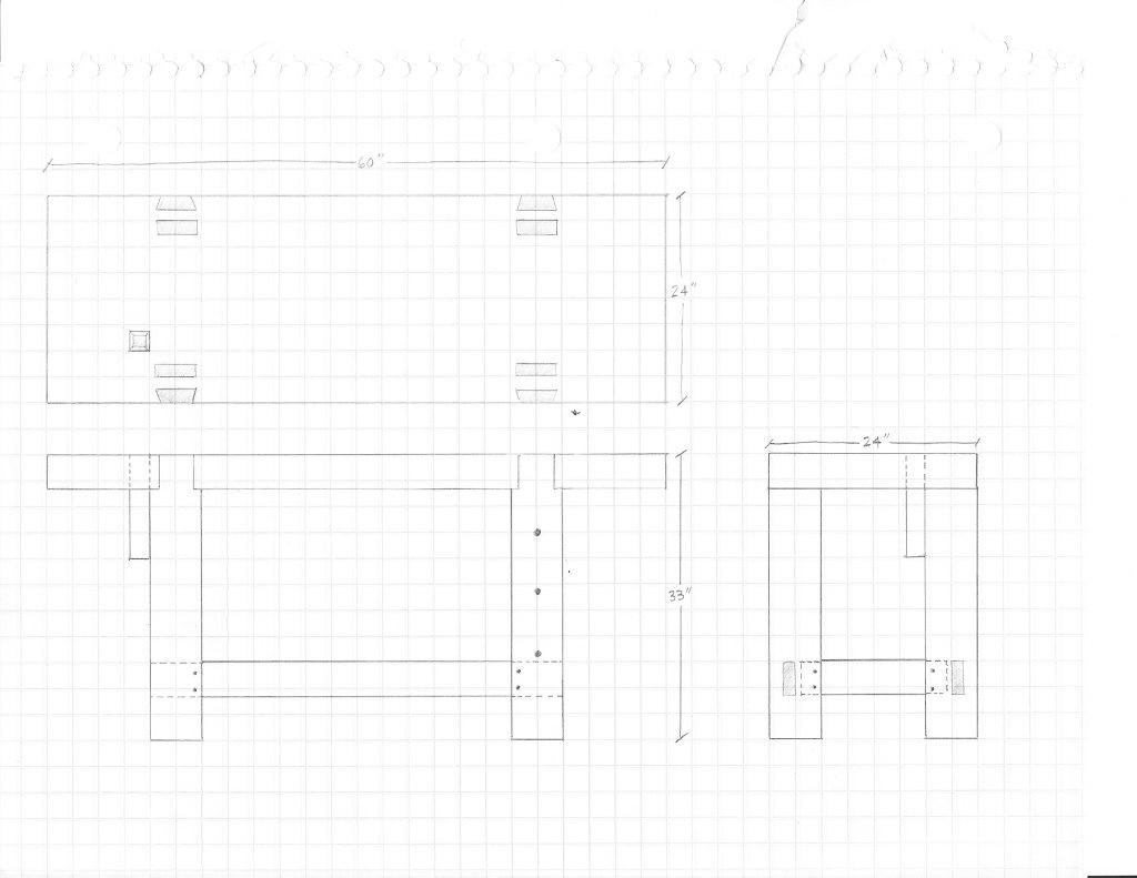 Roubo Workbench 8 Sketch Of Bench By Eric Lumberjocks Com